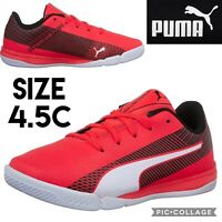Puma Big Kids Shoes evoSPEED Star S Junior Red Blast Black White Soccer Boys 4.5