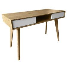 SVITA retro Schreibtisch Eiche-Optik weiße Schubladen Bürotisch Computertisch