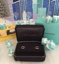 Tiffany & Co Elsa Peretti Open Heart Earrings 18k Yellow Gold Inner Outer Box