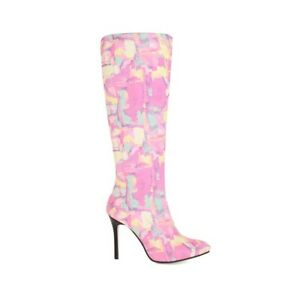 Elegant Women's Side Zip Knee High Boots Suede Pointed Toe Multi Color Shoes New
