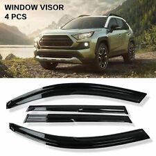 4PCS Window Visors Sun Rain Vent Guards Deflector For 2006-2012 Toyota Rav4
