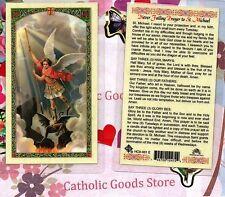 Saint St. Michael the Archangel - Never Failing Prayer - Laminated Holy Card