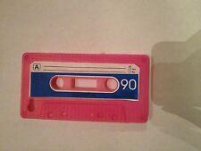 Handyhülle Iphone 4/4s, Silikonhülle, pink-blau, Kassette