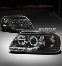 97-03 FORD F-150/97-02 EXPEDITION HALO DRL LED SMOKE PROJECTOR HEADLIGHTS PICKUP