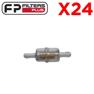 Mini In-line Fuel Filter (WCF191 x 24) Suits 5mm hose - RETAIL BULK PACK