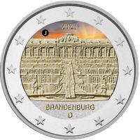 2 Euro Gedenkmünze BRD 2020 Schloss Sanssouci  coloriert / Farbe / Farbmünze 1