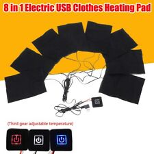 Clothes Heating Pad Adjustable Temp Thermal Clothing Jacket Electric 8 In 1 USB