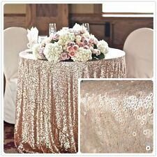 90'' Round Champagne Sequin Tablecloth,wholesale Wedding Beautiful Sequin Table
