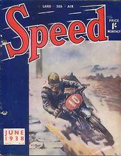 Speed Magazine 6/38 Type 55 Frazer-Nash BMW Road Test Motor Cycle TT USA racing