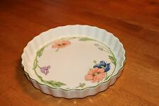 "Villeroy and Boch Amapola Quiche Dish - 9 1/2"" Retired Pattern"