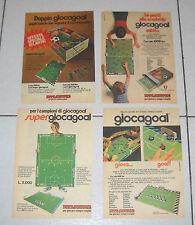 Lotto 4 Pubblicità ATLANTIC GIOCAGOAL calcio Topolino anni 70 Advertising