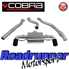 Cobra Sport BMW M135i Exhaust Cat Back Non Resonated BM74 Black Tails F20 & F21