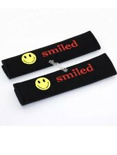 2pcs Car Seat Belt Cover Shoulder Cushion Pads for Emoji Smiled All Seatbelts