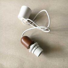 lampenpendel Cable de suspensión la lámpara E27 Blanco Nogal