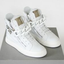 d8e4fc4d1a7b7 Giuseppe Zanotti off White Leather Shoes Birel Chain Hi Top SNEAKERS 35