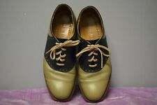 Cole-Haan Oxford Saddle Two-Tone Green/Blue Leather Shoes Men's