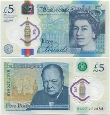 Great Britain; Bank of England; 5 Pounds 2015 (2016) UNC, Polymer, New design