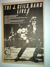J GEILS BAND Live in The UK 1980 Poster size Press ADVERT 16x12 inches