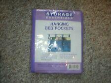 3 Pockets Bedside Storage Caddy Hanging Bag Bed Organizer Holder New