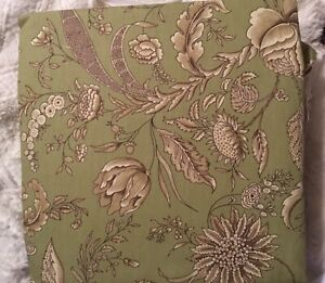 Waverly Sure Fit Fanciful Autumn One Piece Chair Slipcover green floraL NEW