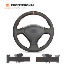 DIY Black Suede Steering Wheel Wrap for Subaru Forester Impreza Legacy 2005-2007
