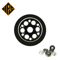 2X PRO STUNT SCOOTER BLACK DRILLED METAL CORE WHEELS 100mm 88A ABEC 9 BEARING