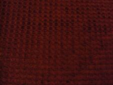 Retro Upholstery fabric velvet square design chocolate cherry color 2+ yds NOS