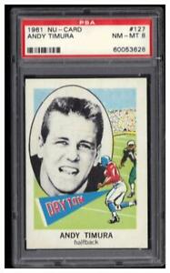 1961 Nu-Cards #127 Andy Timura Graded PSA 8 NM-MT