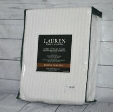 Ralph Lauren 100% Classic Cotton King Bed Blanket White