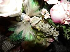 ooak fairy doll in victorian boot with floral arrangement