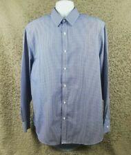 """Men's Tailor & Cutter 18"""" Collar Mini Check Long Sleeve Shirt 2XL #D1"""