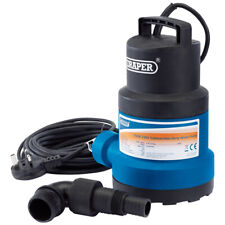 Draper 61668 Submersible Water Pump with Float Switch - Black/ 350W 108L/min