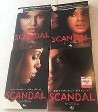Scandal: The Complete First-Fourth Season (DVD, 2014, 15-Disc Set) 3 Sealed 1 VG