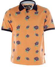 Y656 Signum Herren Kurzarm Shirt Poloshirt Polokragen Pikee Hawaii-Orange L
