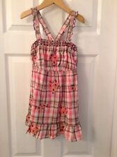 Justice Pink, Brown Plaid , Floral Top Girl Size 16 Excellent Condition!