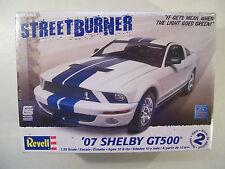 NEW REVELL STREET BURNER '07 SHELBY GT500 MODEL CAR KIT, PLASTIC 1:25