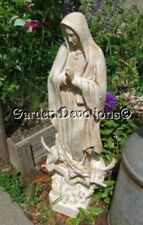 Our Lady Of Guadalupe 35 Inch Mary Garden Statue Fiberglass Stone Assorted  Color