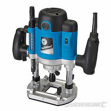 """Heavy Duty Silverline 2050w 1/2"""" Plunge Router Cutter Electric 240v Inc Collects"""