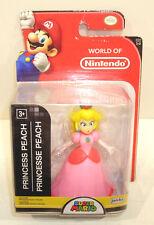 World of Nintendo PRINCESS PEACH Action Figure SEALED Jakks Pacific 1-2 Walgreen