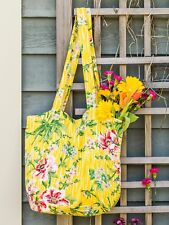 April Cornell Market Bag Tote Water Lily Collection Nwt Yellow Pink Green
