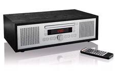 Bluetooth® Stereo Vintage Style CD-player FM radio tuner, AUX jack, alarm clock