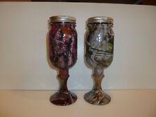 redneck wine glass camo mason jars