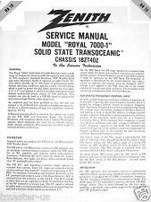 Zenith Radio Transoceanic shortwave service manual RA-19 Royal 7000-1