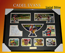 CADEL EVANS TOUR DE FRANCE WINNER 2011 MEMORABILIA FRAME LIMITED EDITION w/ COA