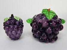 Vintage Lefton Grape Cookie Jar and Sugar Bowel