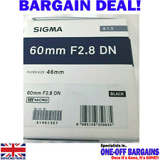 SIGMA ART 60mm f/2.8 DN BLACK Micro Four Thirds BOXED - NEW & UNUSED - FREE PP