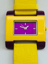Watch With New Battery Fitted Retro Yellow And Purple Rare Breo