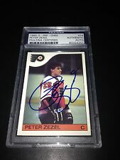 Peter Zezel Signed 1985-86 O-Pee-Chee OPC Rookie Card PSA Slabbed #83324201