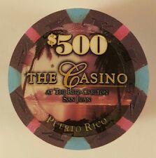 $ 500 ritz paulson the CASINO SAN JUAN poker chip rare mint unc