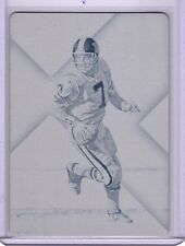 2016 PLATES & PATCHES JOHN ELWAY CYAN PRINTING PLATE 1/1